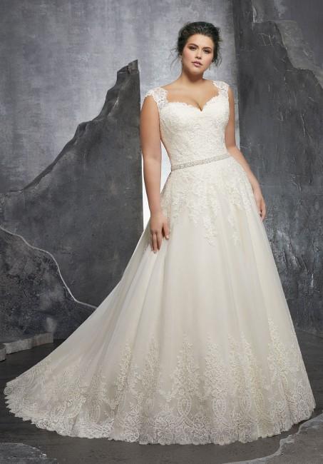 mori lee 3232 kenley cap sleeve a line plus size wedding dress 01 288