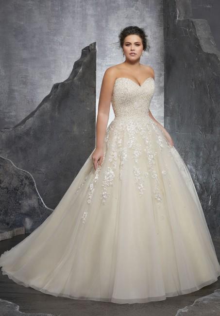mori lee 3238 kasmira strapless sweetheart plus size bridal dress 01 288