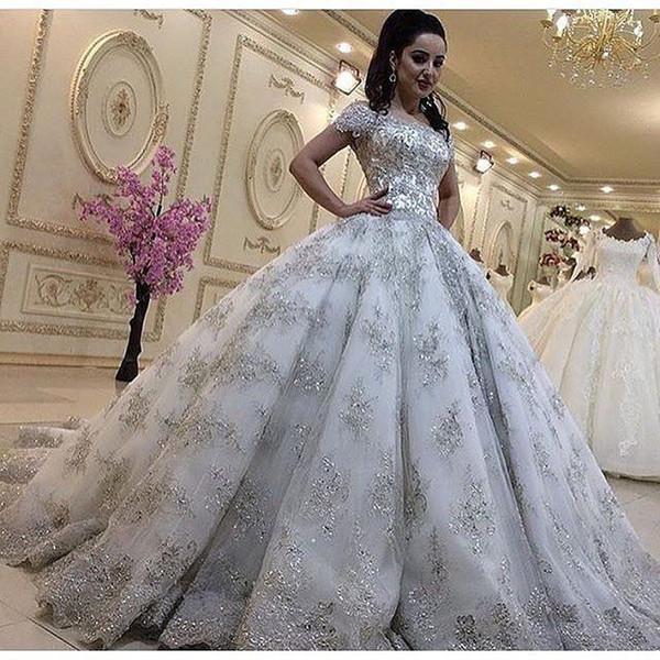 Princes Wedding Dresses Fresh Luxurious Bling Lace Wedding Dresses Plus Size Princess Ball Gowns Short Sleeves Beaded Bridal Gown Arabic Dubai Vestidos De Novia Summer Wedding