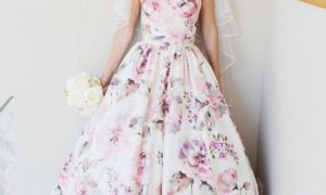 24 Beautiful Printed Wedding Dresses