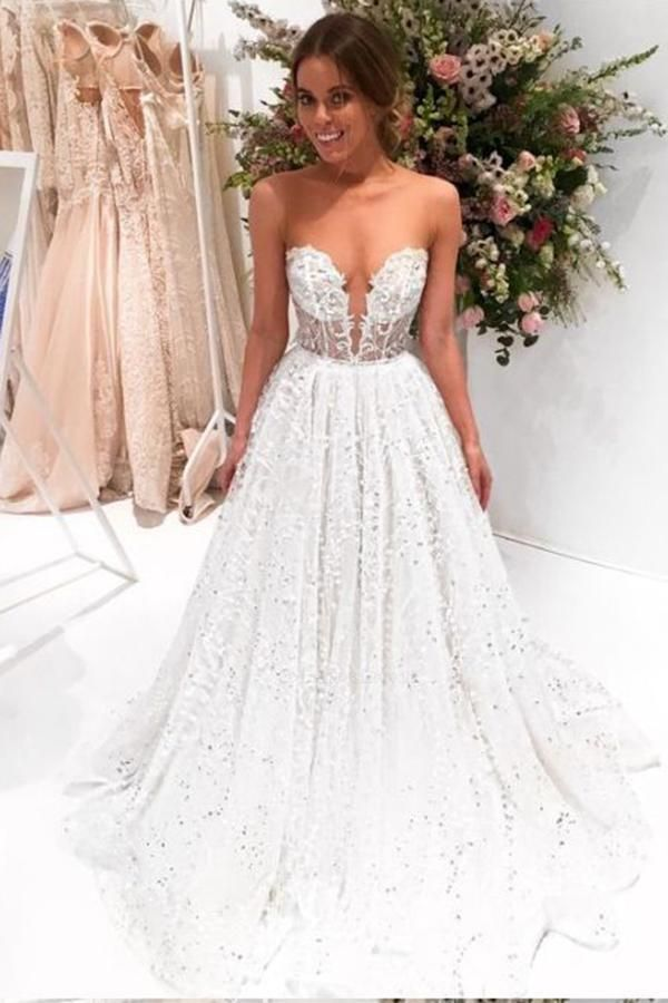 Prom Wedding Dresses Awesome Outlet Dazzling Lace Wedding Dress A Line Wedding Dress
