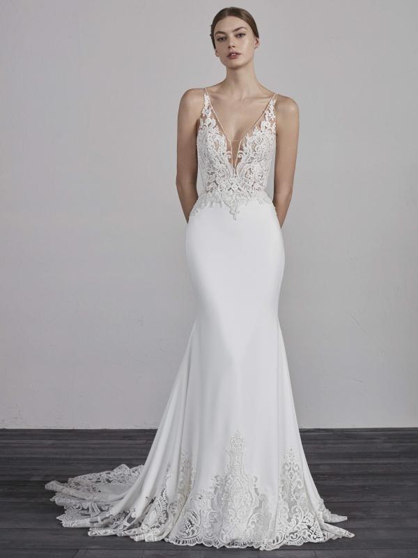 ERANDI PRONOVIAS 2019 OFF WHITE WEDDING DRESS LUV BRIDAL AUSTRALIA 600x800