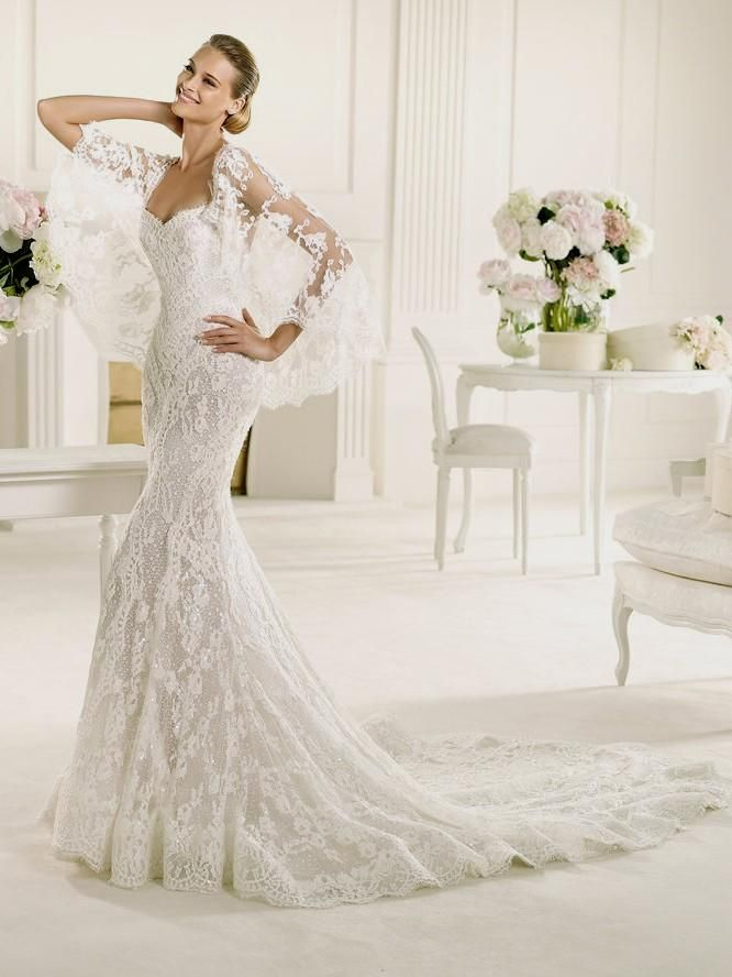 lace fitted wedding gowns new lace fitted wedding dress pronovias manuel mota erika