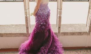 27 Fresh Purple Ombre Wedding Dress
