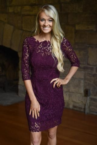 Purple Wedding Guest Dresses Lovely Burgundy Lace Dress Dresses & Glitter In 2019