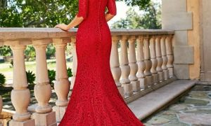30 New Red Lace Wedding Dress