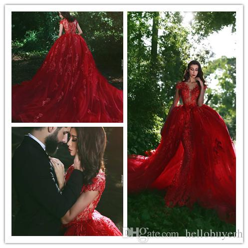 red lace mermaid beach zuhair murad