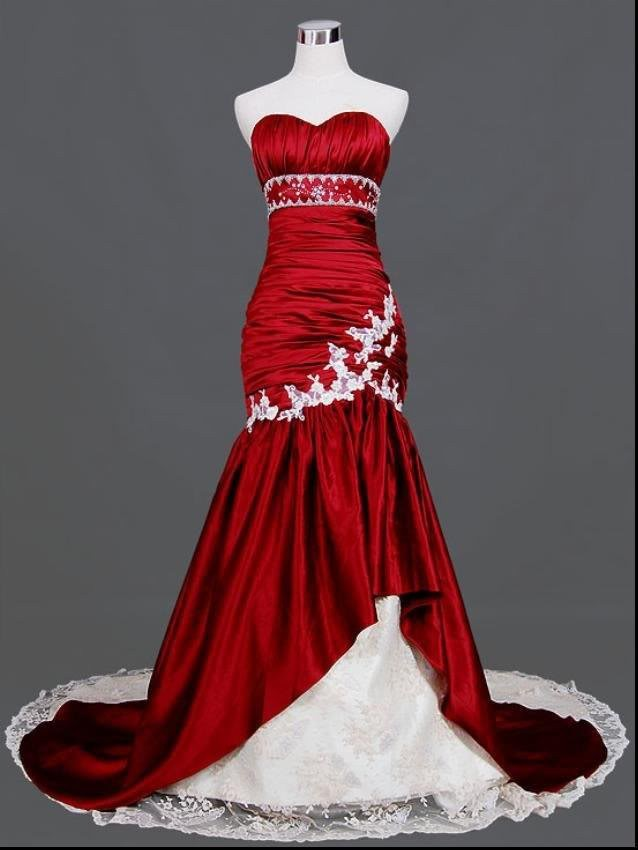 black and white wedding gowns beautiful kupuj line wyprzedaowe mermaid white and red wedding dress od