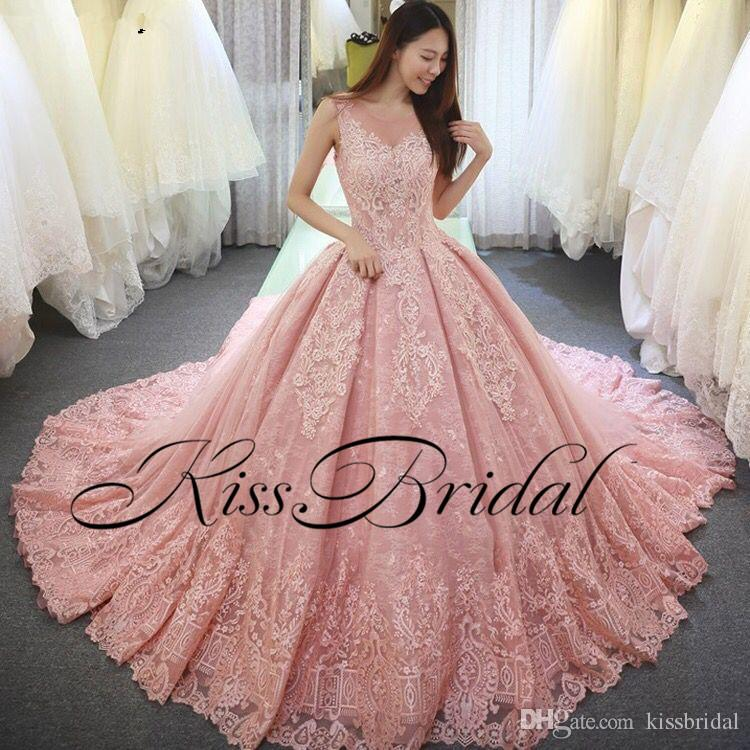 rose colored wedding gown best of big ball gown color wedding dresses vintage full lace arabic dubai