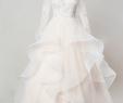 Ruffled Skirt Wedding Dresses Elegant Illusion Lace Appliqués Ruffle Ball Gown Wedding Dress with