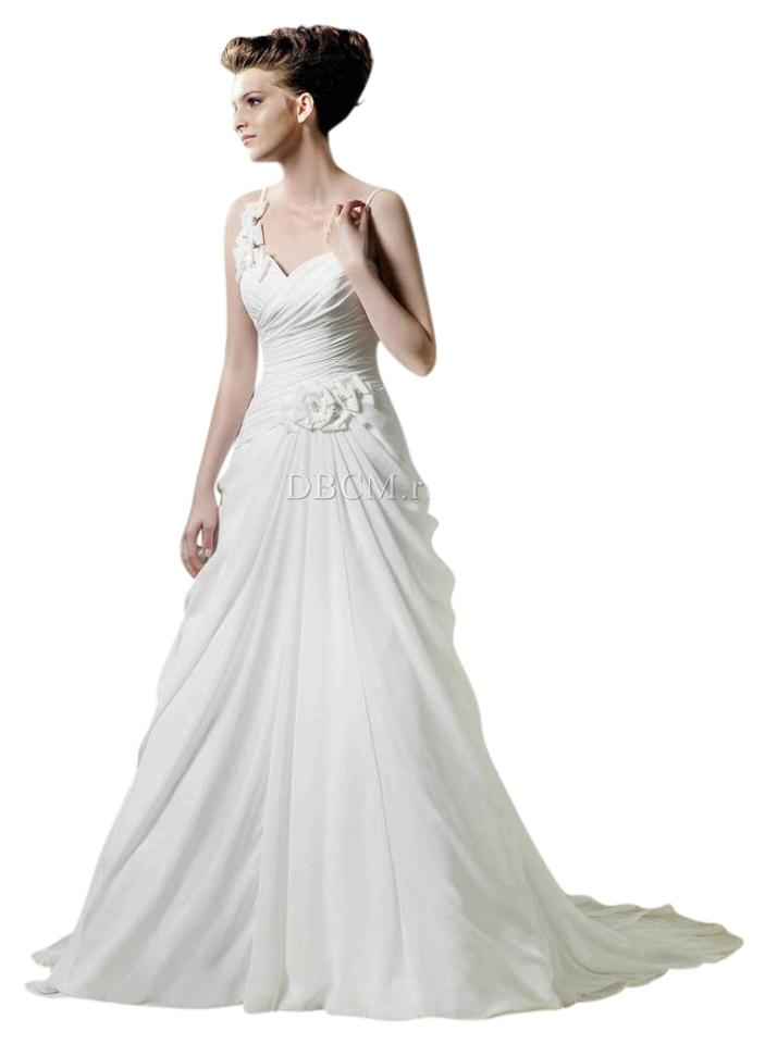 enzoani soft white silk chiffon wedding dress size 8 m 0 3 960 960