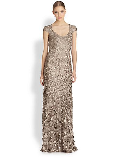 evening gowns for weddings elegant theia petal cap sleeve gown saks