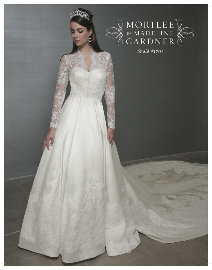 royal wedding inspired bridal gown kate middleton sarah burton a line lace sleeves full