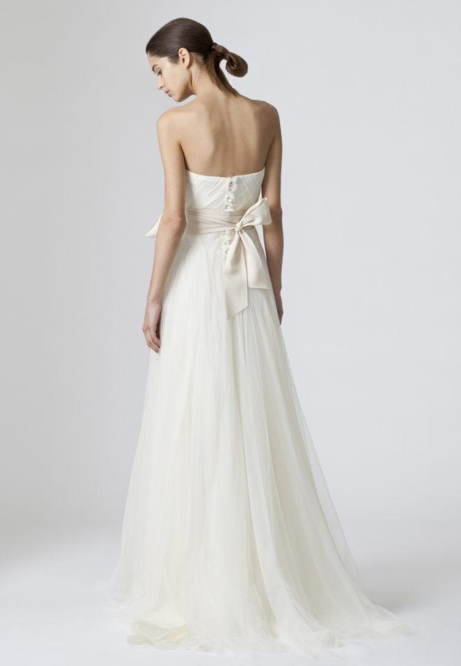 Satin A Line Wedding Dresses Lovely Vera Wang