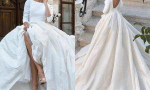 24 Fresh Satin Ball Gown Wedding Dresses