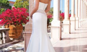 21 Unique Satin Fit and Flare Wedding Dresses