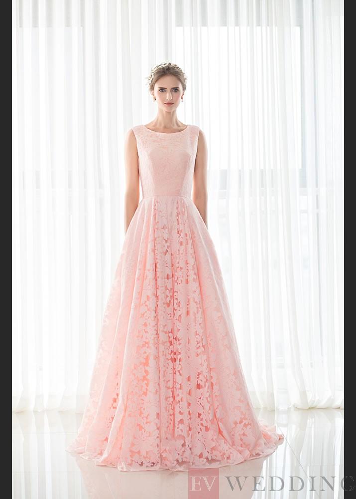 Beautiful A Line Floor Length Scoop Lace Evening Dress OD
