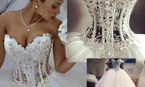 21 Beautiful See Through Corset Wedding Dresses