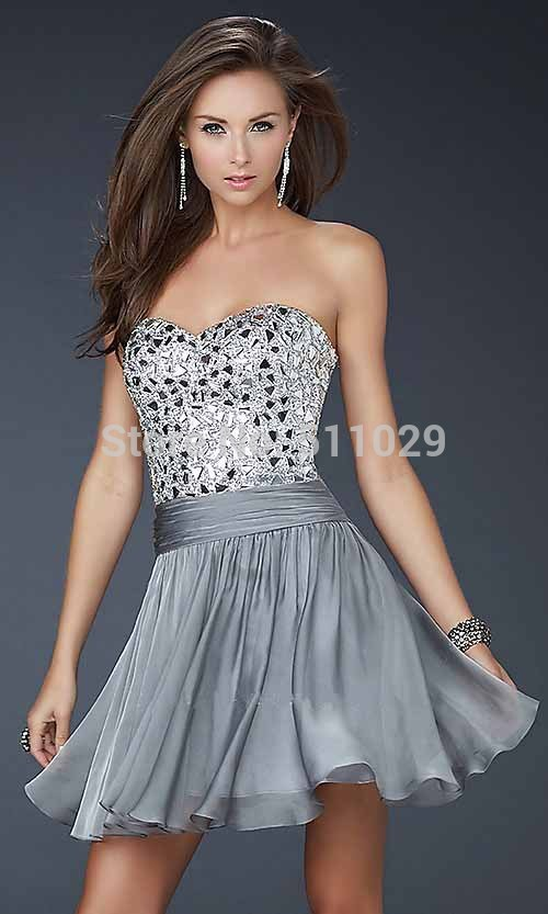 FREE SHIPPING OD 216 Dazzling strapless short la s semi formal party dresses back open