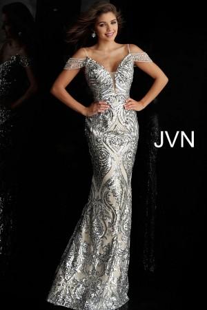 jovani jvn cold shoulder prom gown 01 537