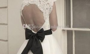 22 Fresh Short Black and White Wedding Dresses