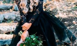 22 Elegant Short Black Wedding Dresses
