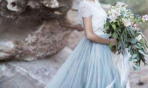 29 Unique Short Blue Wedding Dress