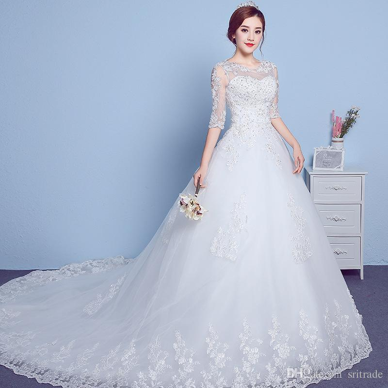 Short Blue Wedding Dress Elegant Cheap In Stock Berta Y Lace Up Trailing Wedding Dresses Hollow Out Jewel Neck Full Lace Appliqued Bridal Gown Saudi Arabia Dubai Vestidos Ready to