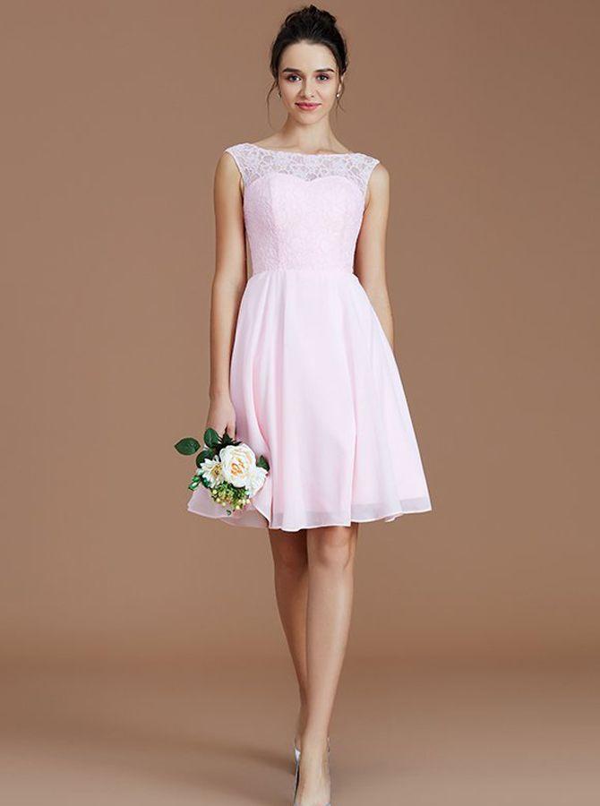 Short Blue Wedding Dress Unique Blushpink Short Bridesmaid Dresses Knee Length Bridesmaid