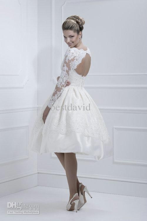Short Chiffon Wedding Dresses Inspirational wholesale Cheap Lace Open Back Short Wedding Dress Long
