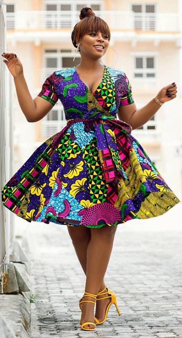 Short Dress Styles Inspirational African Print Short Dress African Fashion Ankara Kitenge