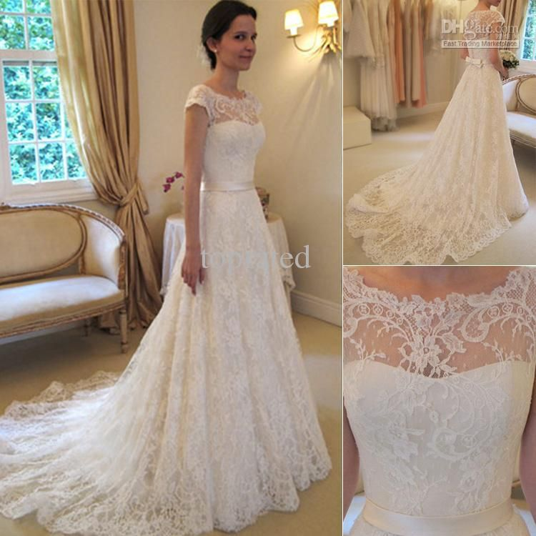 Short Ivory Wedding Dress Beautiful Details About New White Ivory Lace Applique Wedding Dress