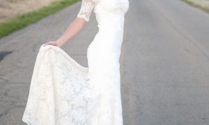 30 Lovely Short Long Sleeved Wedding Dresses