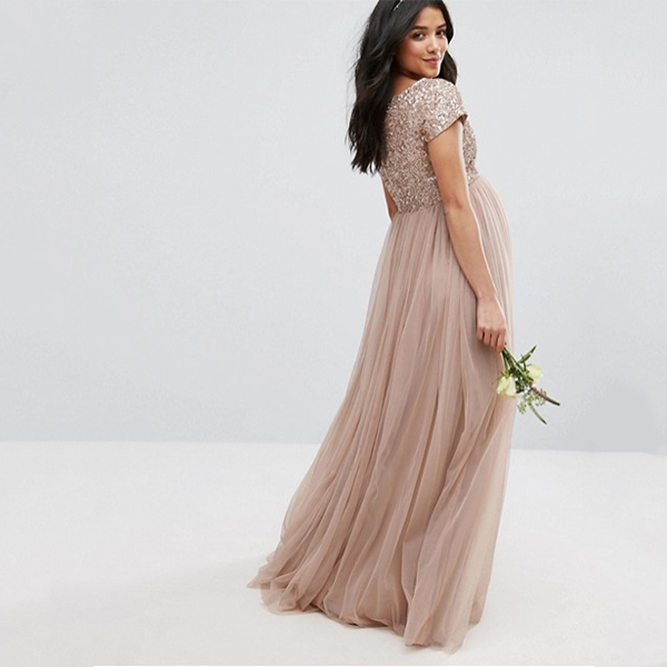 asos Maya Maternity Maxi Dress With Delicate Sequin And Tulle Skirt 600x600