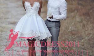 23 Beautiful Short Pink Wedding Dresses