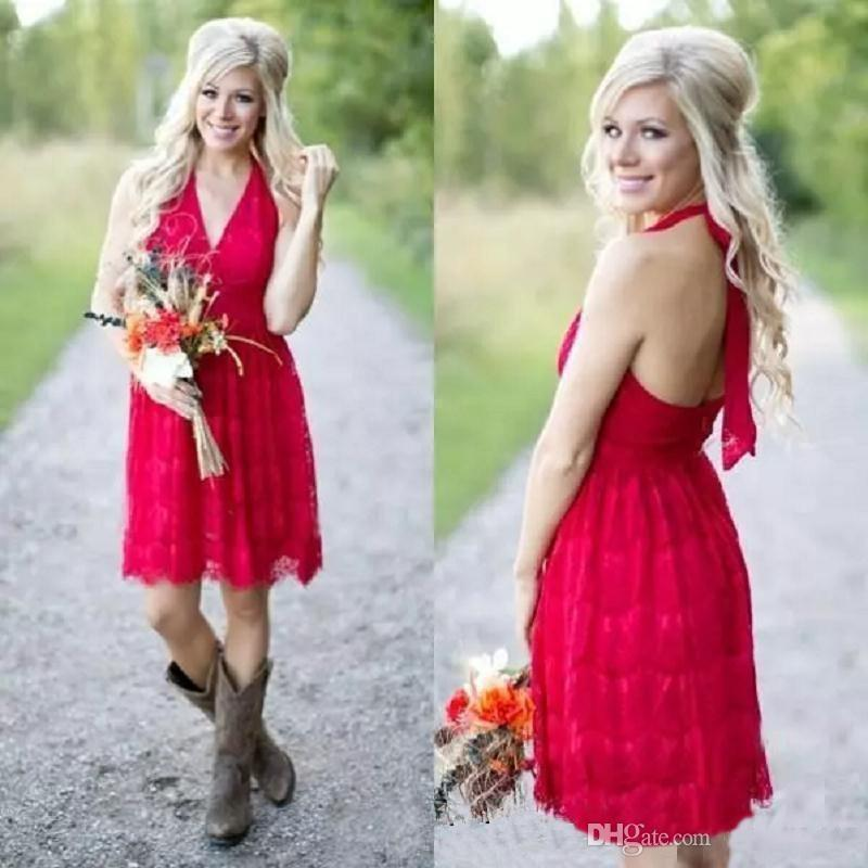 2019 country bridesmaid dresses short