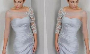 27 Lovely Short Silver Wedding Dresses