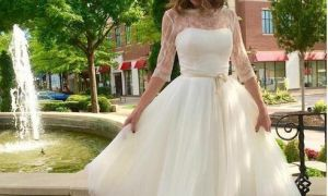 25 Lovely Short Wedding Dresses with Sleeves