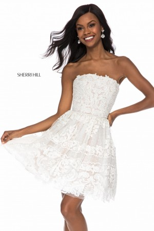 sherri hill lace short party dress 01 394