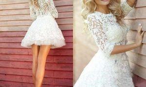 24 Elegant Short White Dress for Wedding