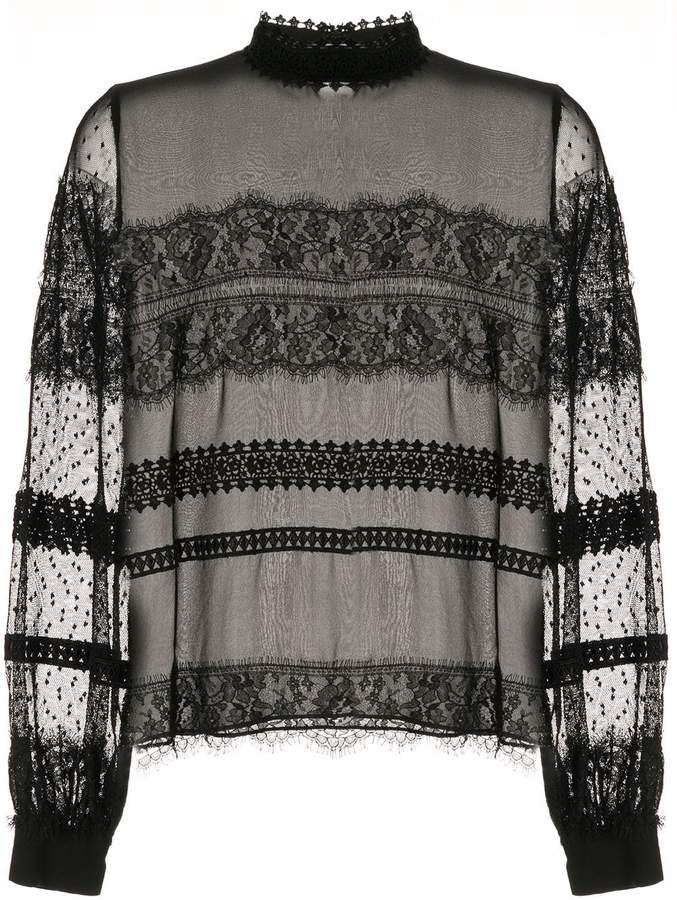 Ingie Paris silk lace blouse