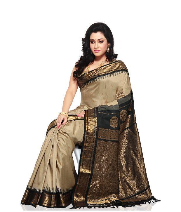 Utsav Fashion Beige Gadwal Silk SDL 1 d47bf