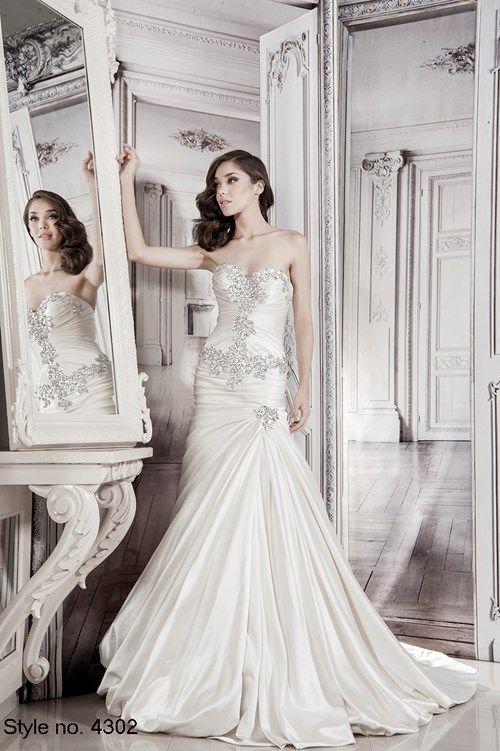 Silk Satin Wedding Dress Inspirational Pnina tornai Sweetheart A Line Gown In Silk Satin