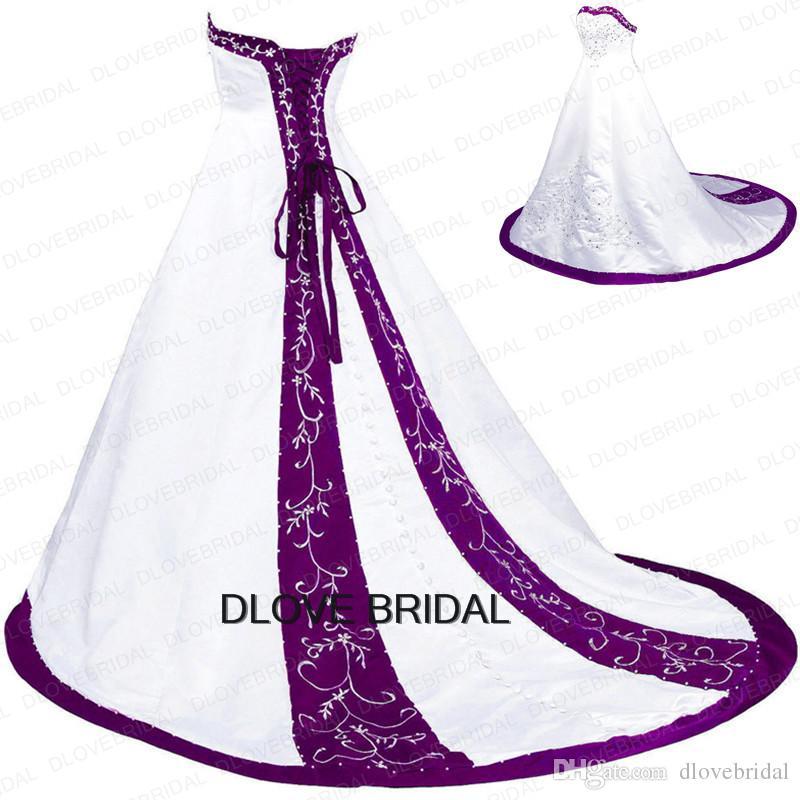 classic beaded emboridery wedding dress a
