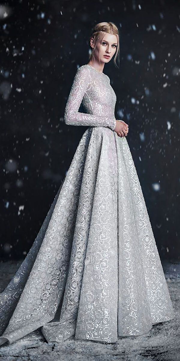 Silver Dresses for Wedding Awesome 24 Winter Wedding Dresses & Outfits