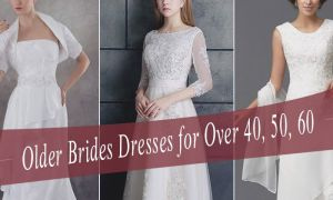 20 Lovely Silver Wedding Dresses for Older Brides