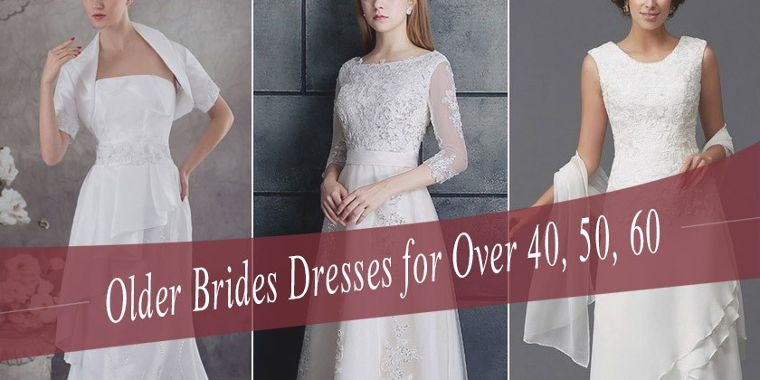 Silver Wedding Dresses for Older Brides Elegant Wedding Dresses for Older Brides Over 40 50 60 70