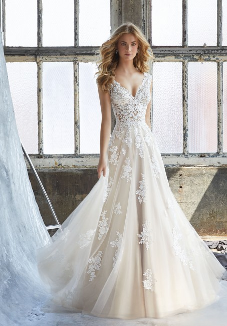 mori lee 8206 kennedy v neck a line wedding gown 01 286
