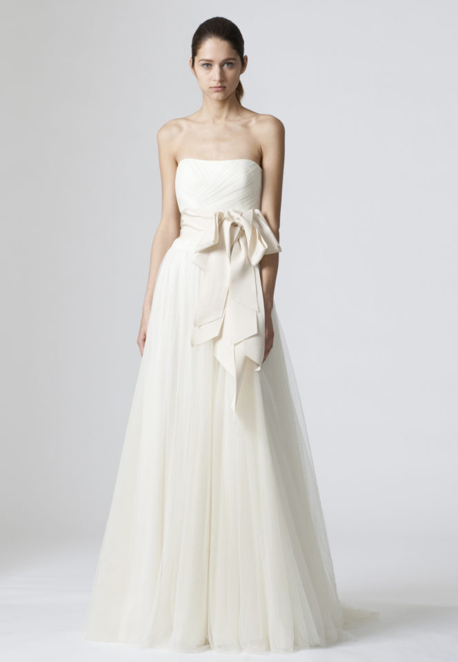 Simple Ivory Wedding Dress Elegant Vera Wang