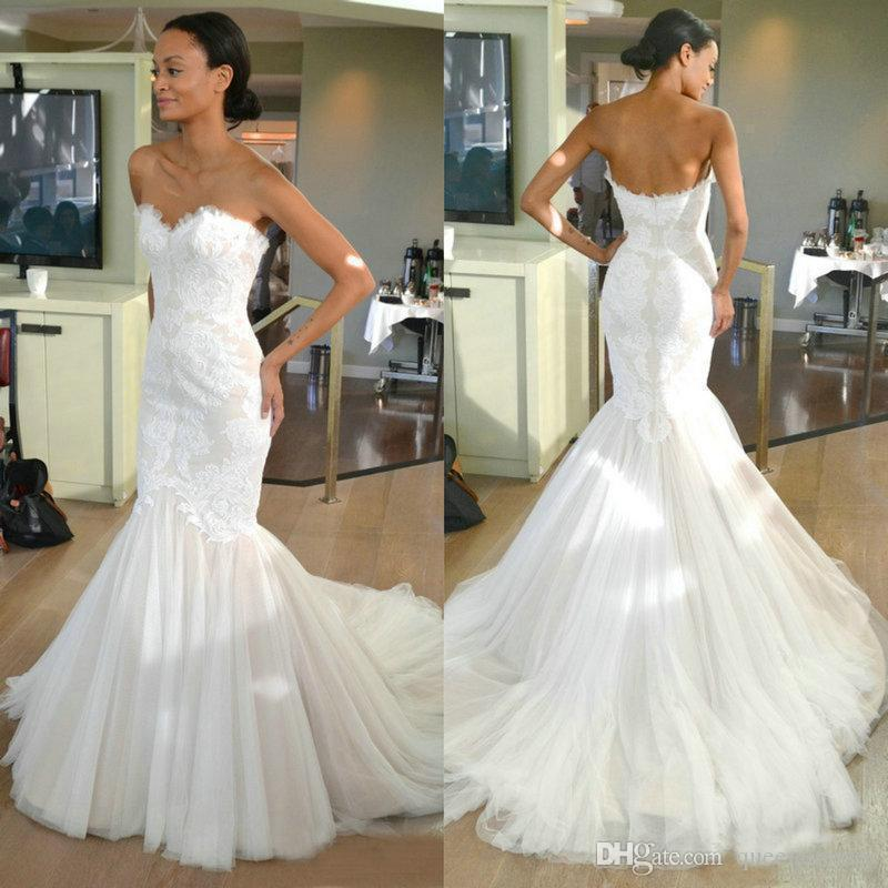 Simple Mermaid Wedding Dresses Inspirational Vestidos De Novia Vintage Lace Mermaid Wedding Dresses Bridal Gowns Sweetheart Sleeveless Sweep Train Custom Made Tulle Wedding Gowns Line